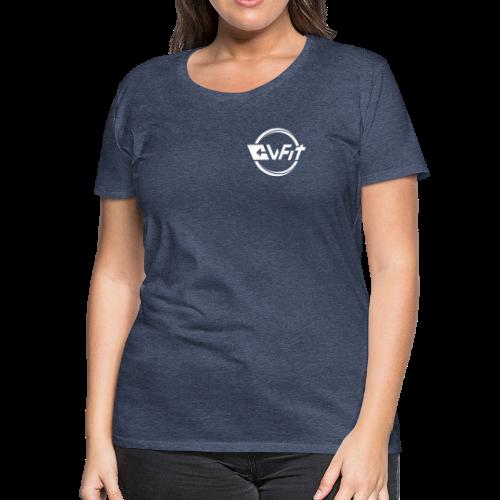 CWFit Logo White - Women's Premium T-Shirt