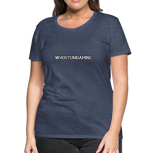 WhoStun Gaming Block college style - Women's Premium T-Shirt