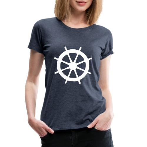 Steering Wheel Sailor Sailing Boating Yachting - Women's Premium T-Shirt