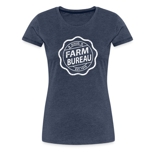 White Distressed Logo - Women's Premium T-Shirt