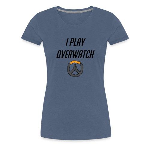 iplayoverwatch png - Women's Premium T-Shirt