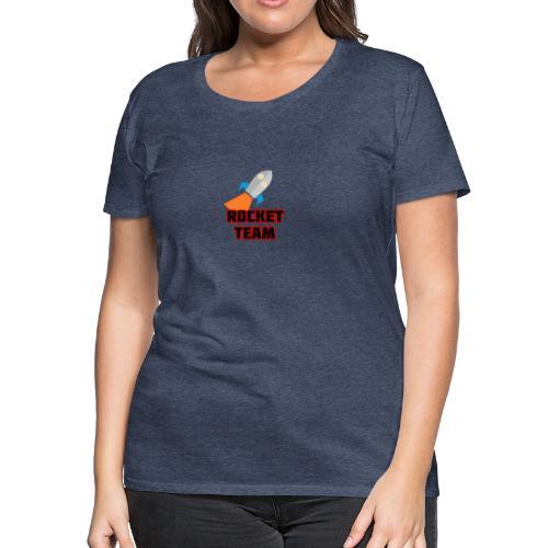 Rocket Team Logo Red Text - Women's Premium T-Shirt