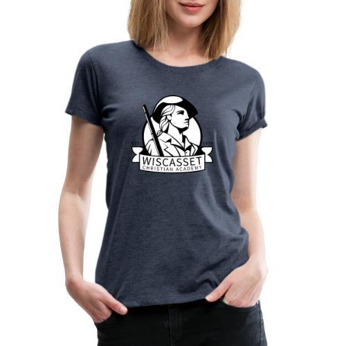 WCA Logo banner black line white fill - Women's Premium T-Shirt