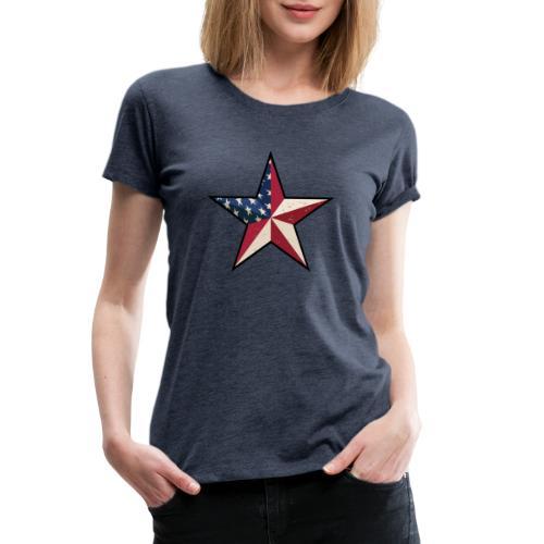 American Patriot Barn Star - Women's Premium T-Shirt