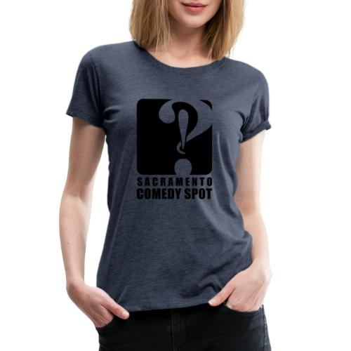 Sacramento Comedy Spot Vertical Logo - Women's Premium T-Shirt