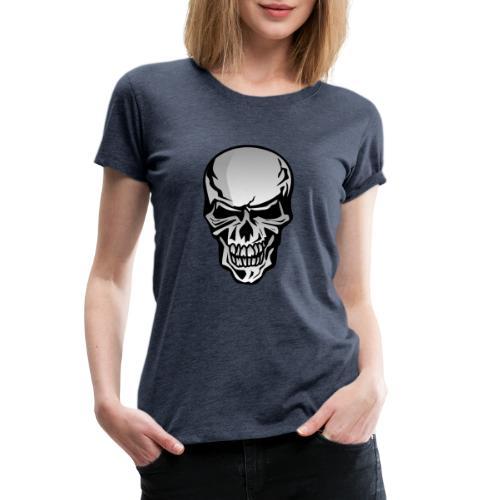 Chrome Skull Illustration - Women's Premium T-Shirt