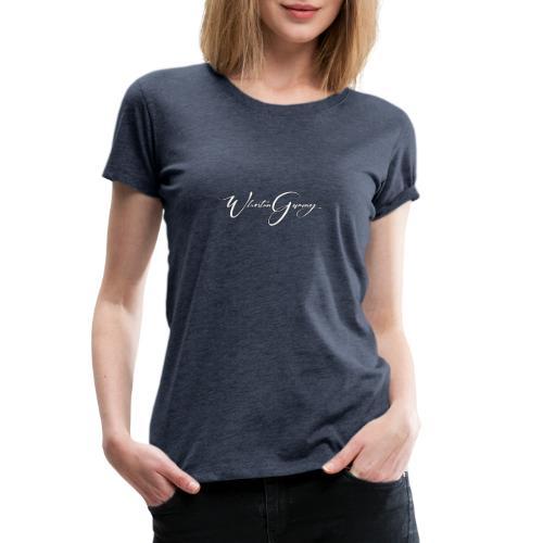 Who Stun Gaming, small calligraphy - Women's Premium T-Shirt