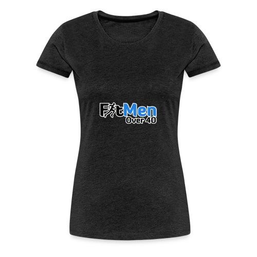 Fit Men Over 40 V-Neck Short Sleeve Shirt - Women's Premium T-Shirt