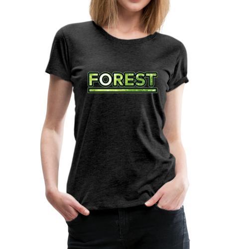 Forest - Double Exposure - Effect - Women's Premium T-Shirt