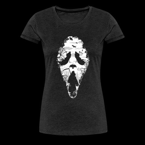 Reaper Screams | Scary Halloween - Women's Premium T-Shirt