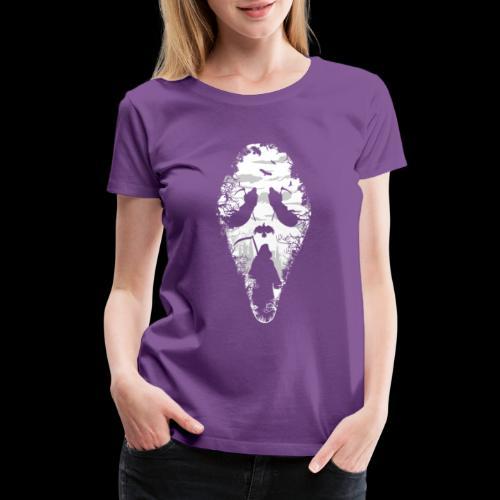 Reaper Screams   Scary Halloween - Women's Premium T-Shirt