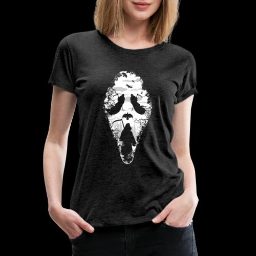 Reaper Screams | Scary Halloween - Women's Premium T-Shirt