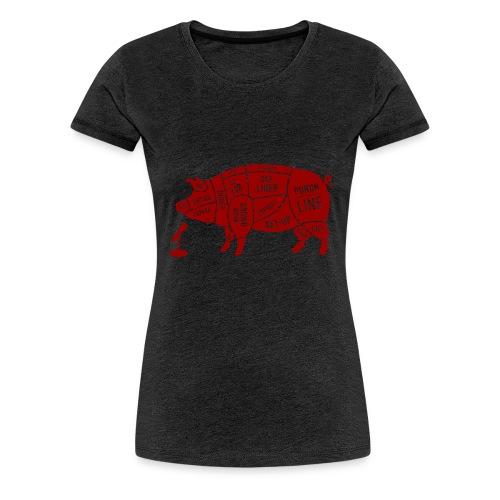 Red Pig - Women's Premium T-Shirt