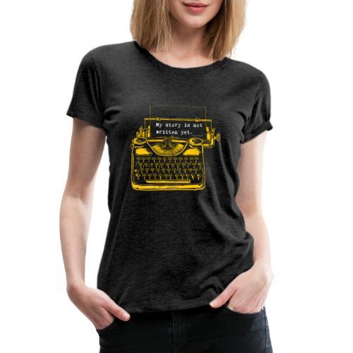 Yellow Typewriter - Women's Premium T-Shirt