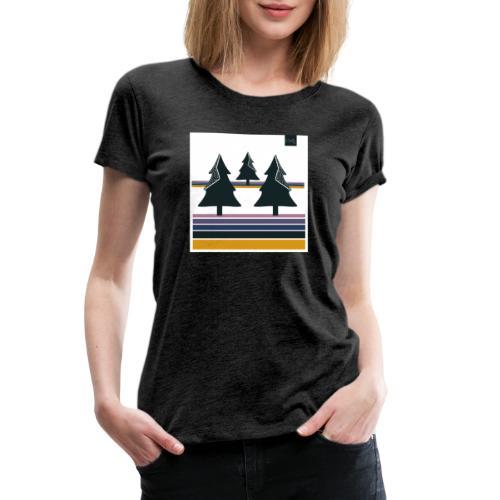 Trees on the Horizon - Women's Premium T-Shirt