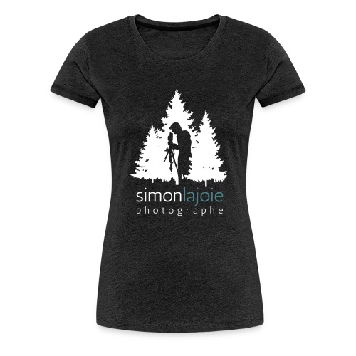 Logo Simon Lajoie Photographer White - Women's Premium T-Shirt