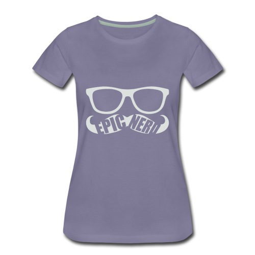 White Epic Nerd Logo - Women's Premium T-Shirt