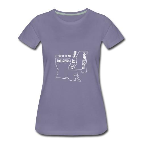 Louisiana_Mississippi_Design - Women's Premium T-Shirt