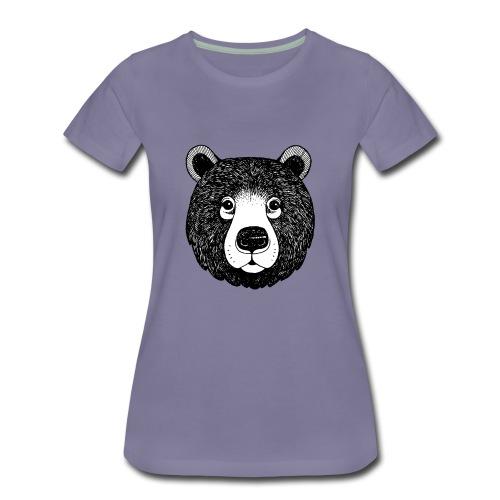 The head of bear - Women's Premium T-Shirt