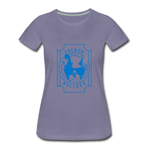 French Bulldog Blue - Women's Premium T-Shirt