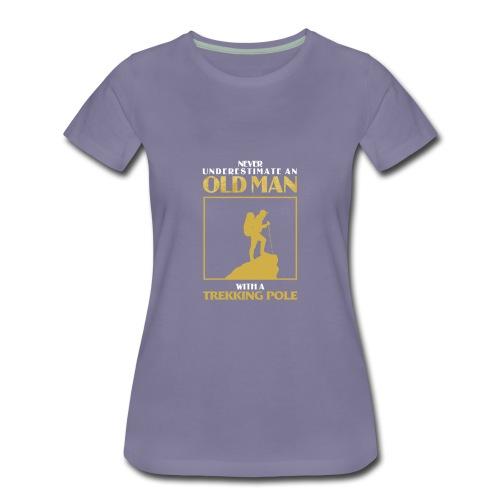 Old Man Trekking - Women's Premium T-Shirt