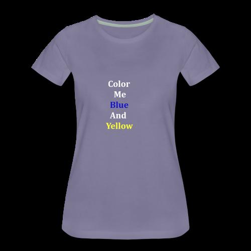 yellowandblue - Women's Premium T-Shirt