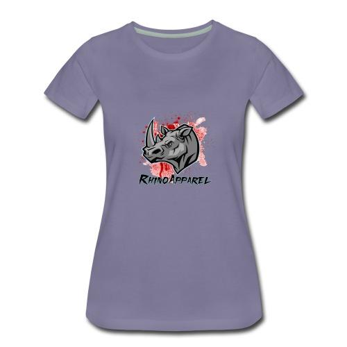 Rhino Blood Splatter - Women's Premium T-Shirt