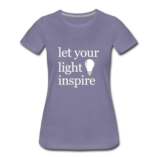 Let Your Light Inspire Mug - Women's Premium T-Shirt