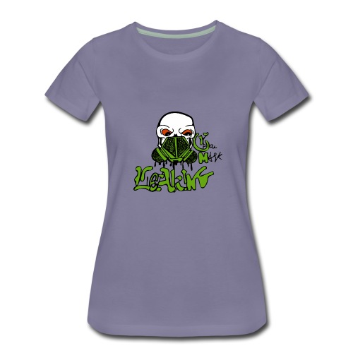 Leaking Gas Mask - Women's Premium T-Shirt