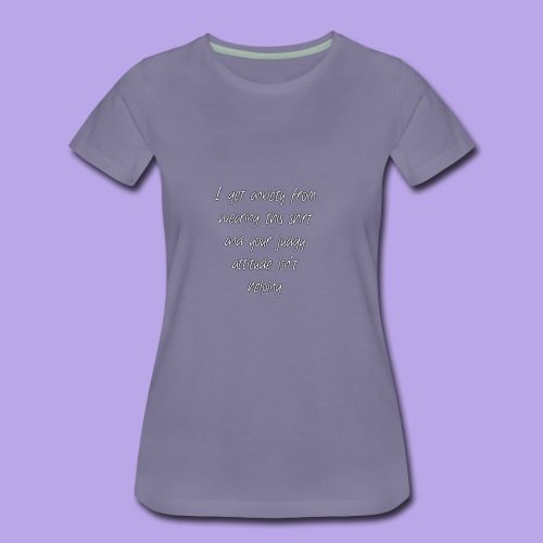 Anxiety W/O quote - Women's Premium T-Shirt