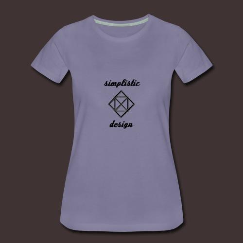 Simplistic Design Logo With Text - Women's Premium T-Shirt