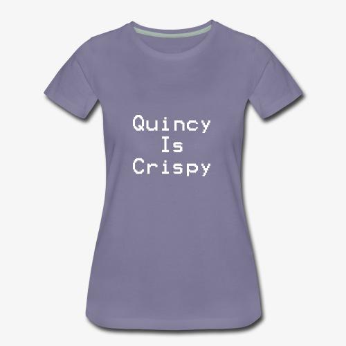 QuincyIsCrispy Text Logo (White) - Women's Premium T-Shirt
