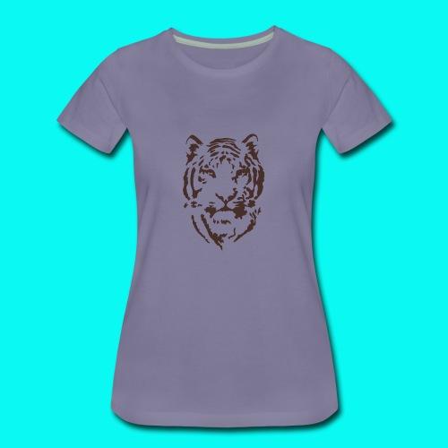 Tiger Printed T-shirt - Women's Premium T-Shirt