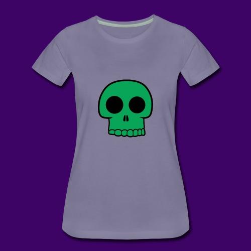 Green Skull - Women's Premium T-Shirt