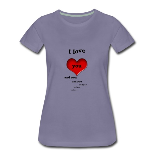 Valentin Love - Women's Premium T-Shirt