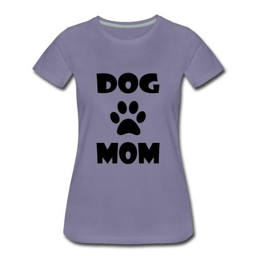 DOG MOM WITH PAW PRINT - Women's Premium T-Shirt
