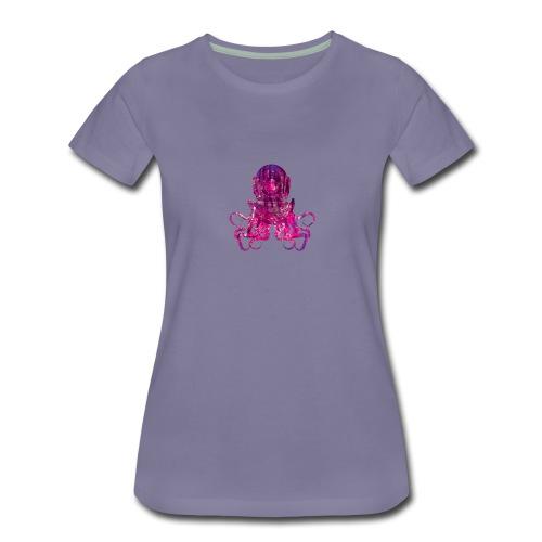 Tentacle Helmet -Pink - Women's Premium T-Shirt