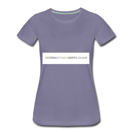 Intriguing Gentleman Tee - Women's Premium T-Shirt