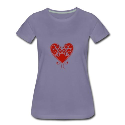 A Splash of Love Heart Design Baby One Piece - Women's Premium T-Shirt