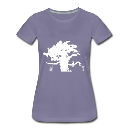 WD icon white - Women's Premium T-Shirt