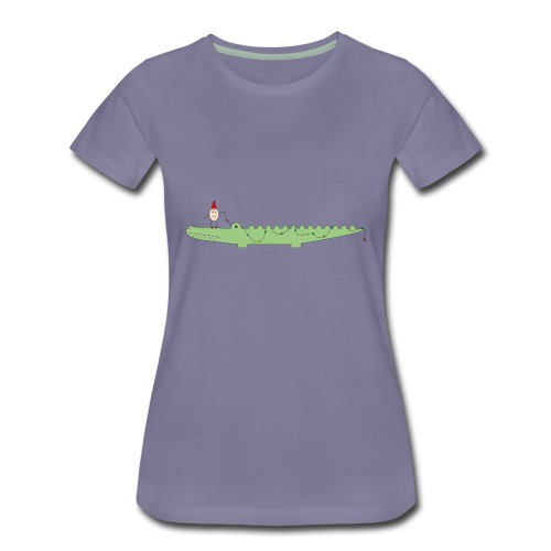 Croc & Egg Christmas - Women's Premium T-Shirt
