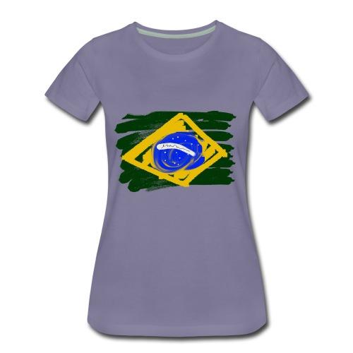 Brazilian Flag - Women's Premium T-Shirt
