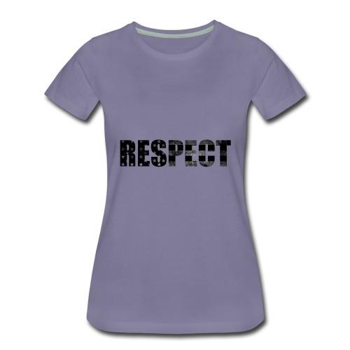 Respect Black and White flag - Women's Premium T-Shirt