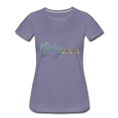 Nicky Fix My Life LOGO - Women's Premium T-Shirt