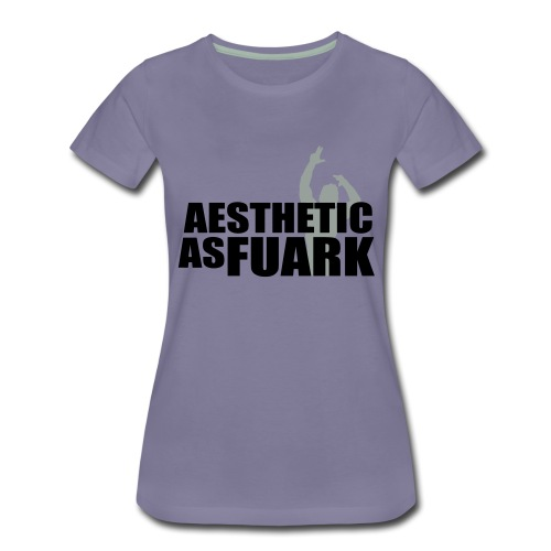 Zyzz Aesthetic as FUARK - Women's Premium T-Shirt