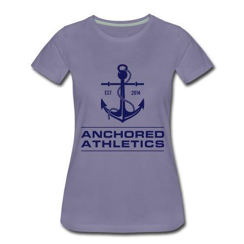 Anchored Athletics Blue Vertical - Women's Premium T-Shirt