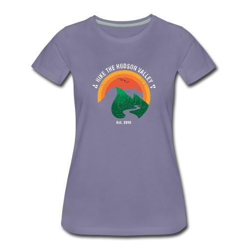 Hike the Hudson Valley (Vintage, dark bkgrnd) - Women's Premium T-Shirt