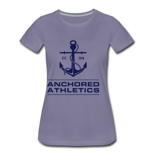 Anchored Athletics Blue Vertical - Women's Premium T-Shirt