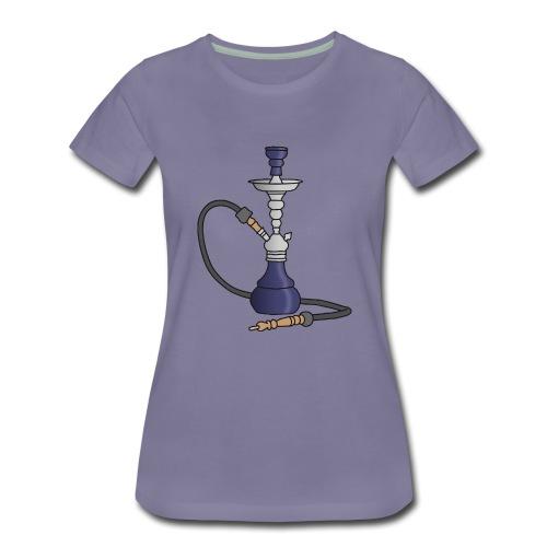 Shisha water pipe (violet) - Women's Premium T-Shirt