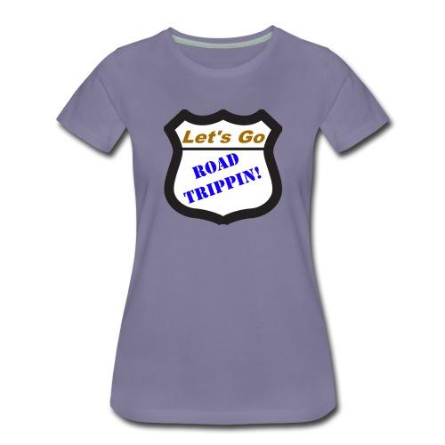 LetsGoRoadTrippinLogo 2000x2000 png - Women's Premium T-Shirt
